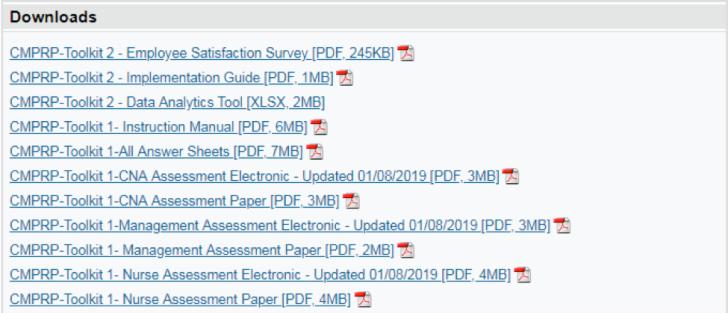 CMPRP Downloads